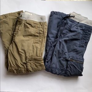 Lot of 2 Mini Boden Jersey Lined Cargo Pants